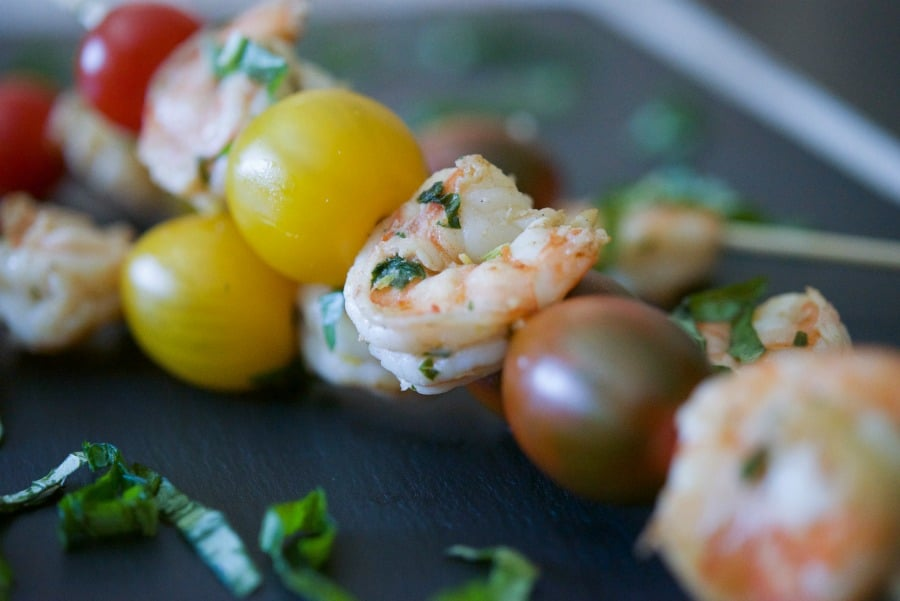 Lemon Basil Grilled Shrimp