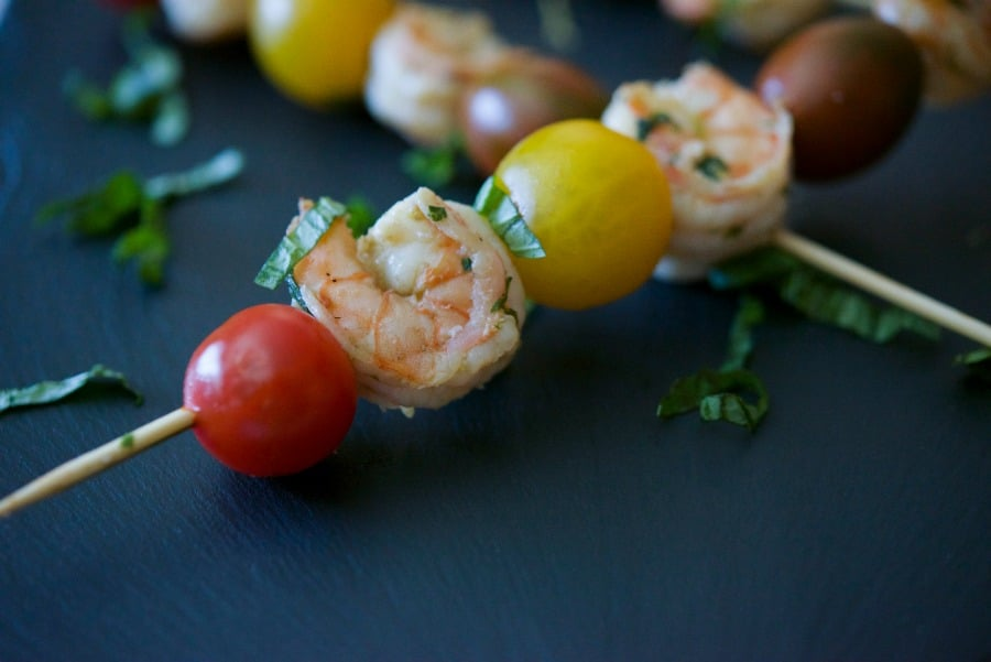 Lemon Basil Grilled Shrimp