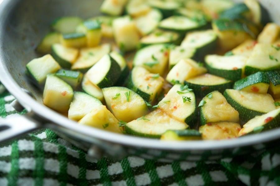 Chili Lime Sauteed Zucchini