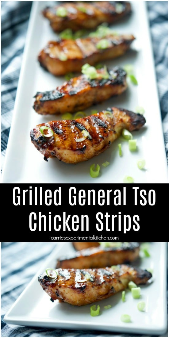 Make the sweet, popular North American Chinese General Tso Chicken dish a little healthier by grilling instead of deep frying. #chicken #grilling #dairyfree #dinner #dinnerrecipes #healthy #healthyrecipes #healthyfood #asian