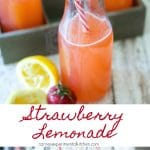 Homemade Strawberry Lemonade is a simple to make, cool, refreshing drink made with fresh strawberries, lemon juice, sugar and water.