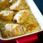 Baked Chicken Thighs in a Horseradish Cream Sauce