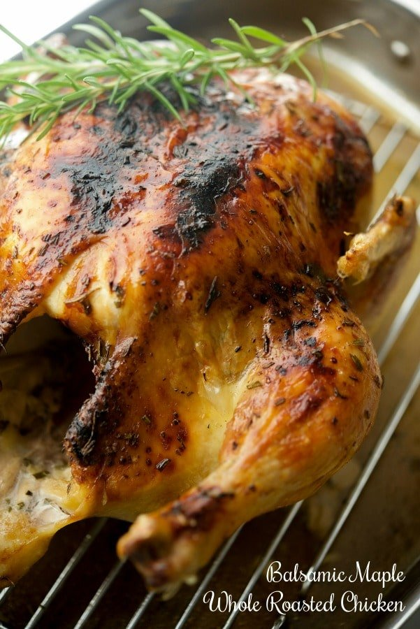 Try this Balsamic Maple Whole Roasted Chicken for Sunday family meals or weeknight dinners. It's simple to make and loaded with flavor.