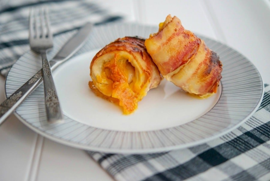 Cheddar Bacon Wrapped Chicken