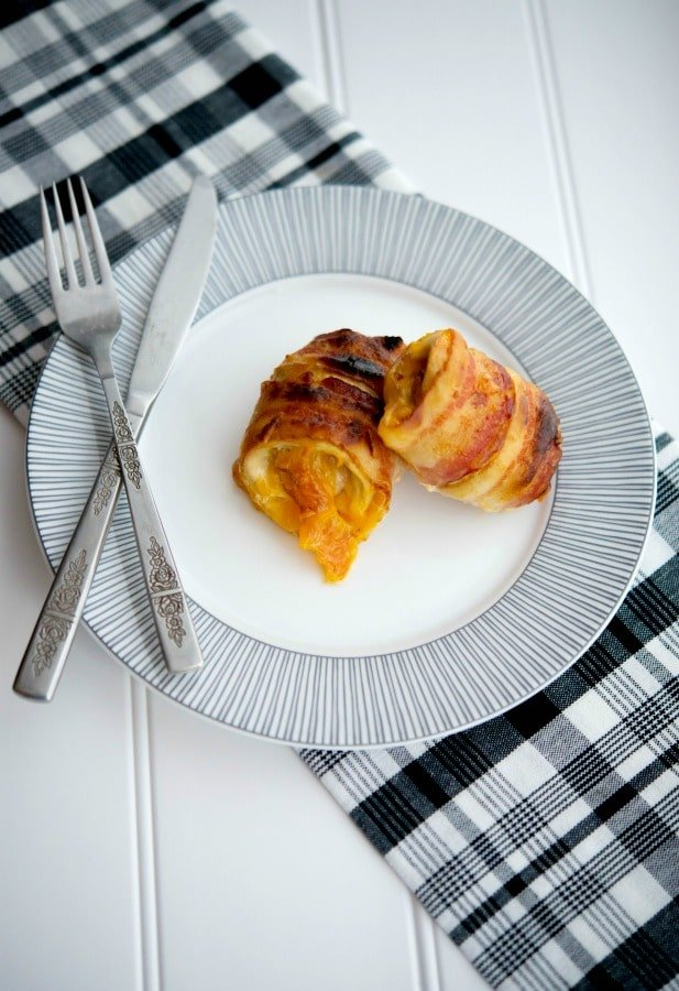 You can't go wrong with this recipe forCheddar Bacon Wrapped Chicken. It'sa super simple, tasty dinner idea with only three ingredients!