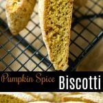 These Pumpkin Spice Biscotti are softer than these traditional Italian cookies, but they're loaded with Fall flavors and perfect for dunking!
