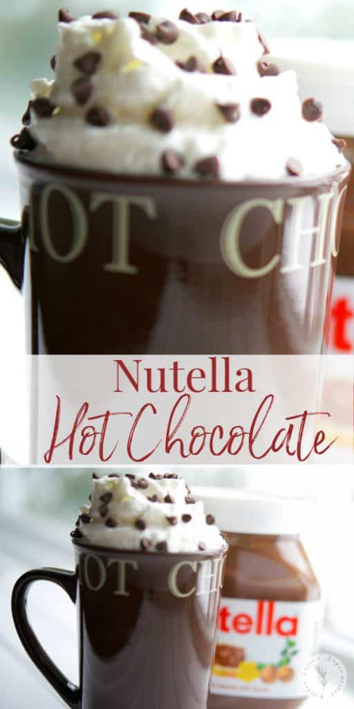 This Nutella Hot Chocolate has been lightened up using 2% milk, but you won't miss the rich, creamy hazelnut chocolate flavor!