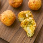 Turn your creamy, day old mashed potatoes into a light and tasty, cheesy appetizer with these Cheddar & Chive Potato Puffs.