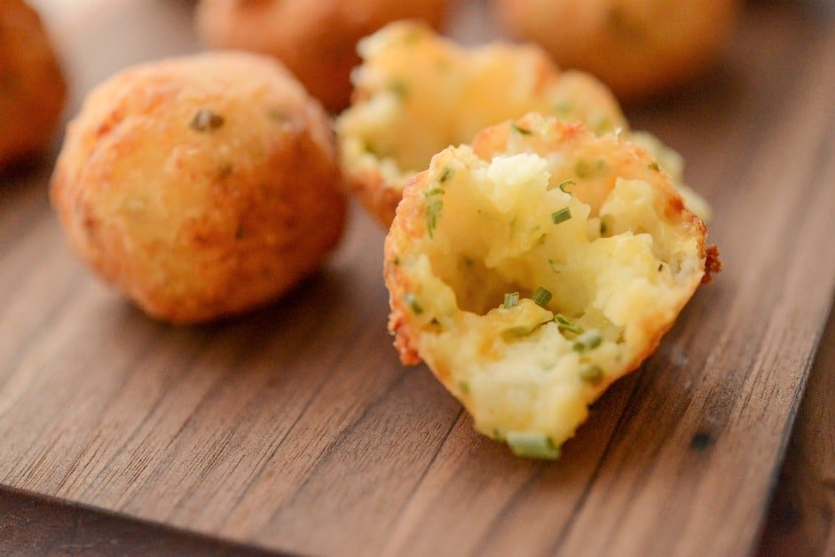 Cheddar & Chive Potato Puffs