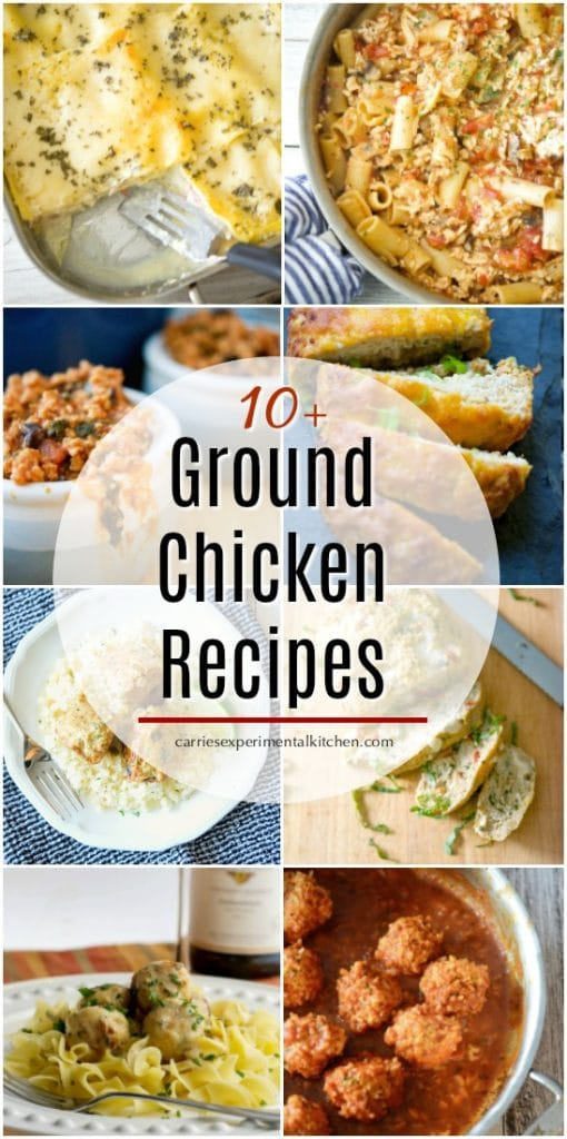Not only is ground chicken healthier than ground beef, my family actually prefers it better too. Here are 10+ Ground Chicken Recipes I hope you'll enjoy.