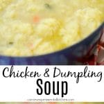 This Chicken and Dumpling Soup made with boneless chicken breasts, vegetables and homemade dumplings will definitely warm your soul on a cold day.