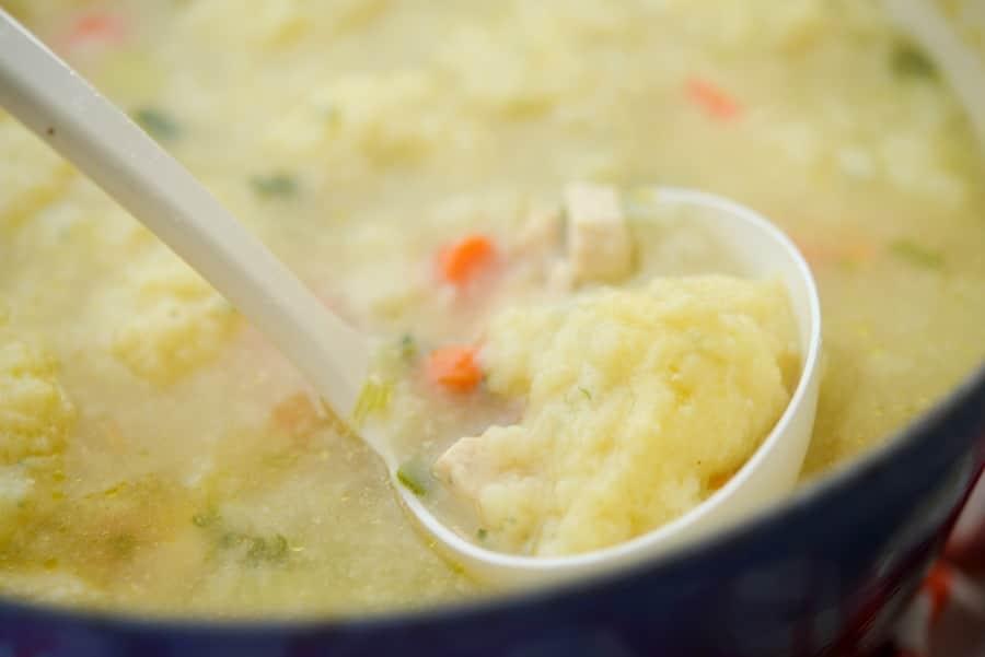 Homemade Chicken And Dumpling Soup Carries Experimental Kitchen