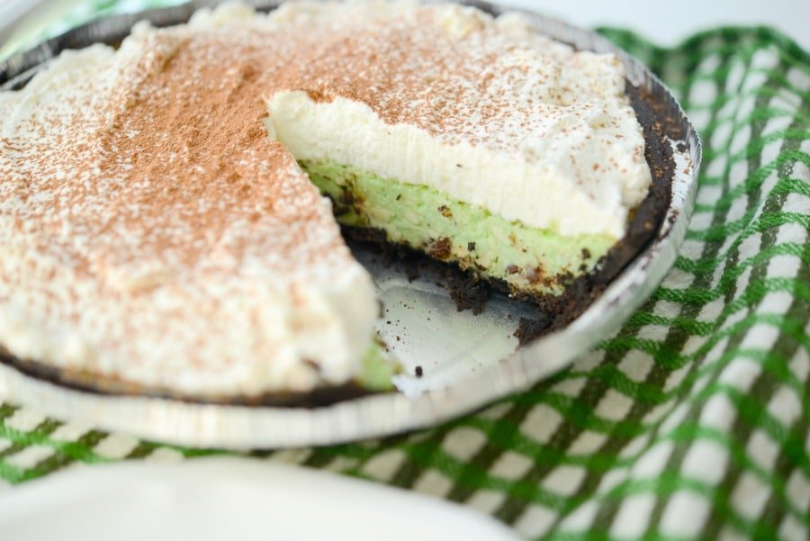 Chocolate Chip Mint Pie