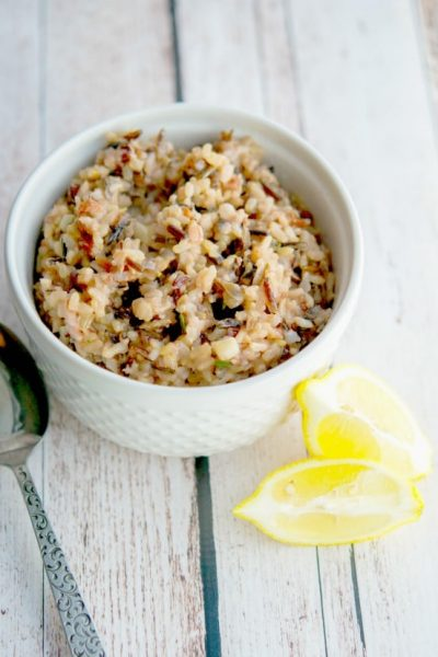 This Lemony Wild Rice Risotto is so light and flavorful, it would taste fantastic as a side dish served with any main entree.