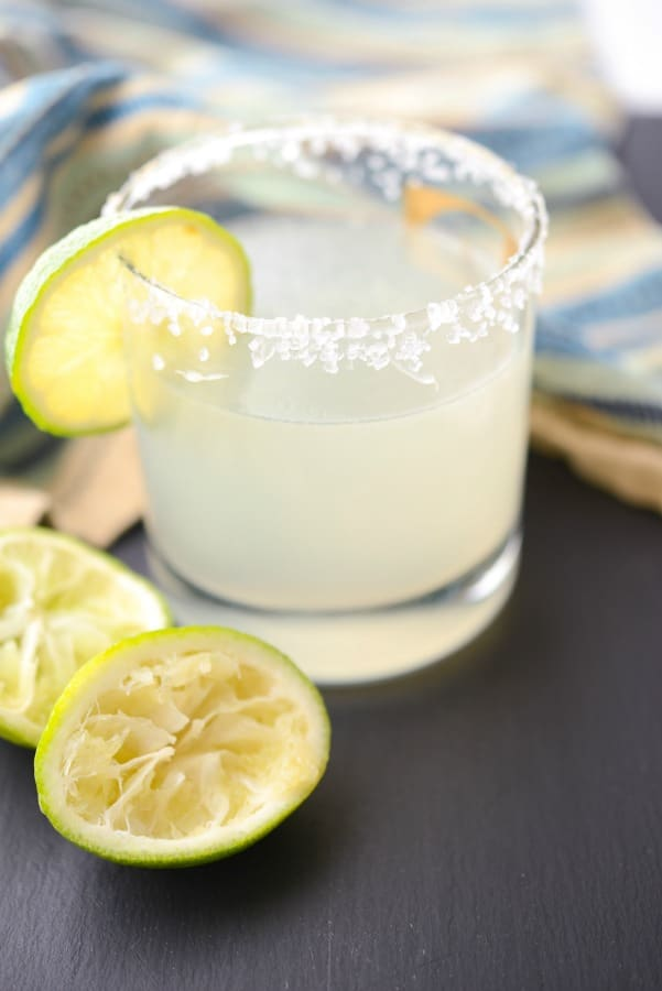 Enjoy the flavor of a classic Margarita at home made with Patron Silver Tequila, Contreau, fresh squeezed lime juice and simple syrup.