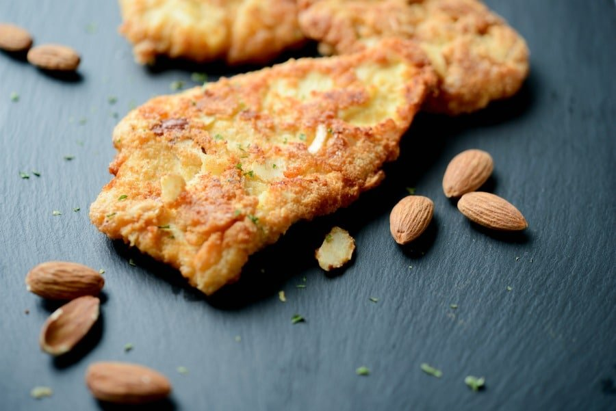 Almond Encrusted Chicken Cutlets