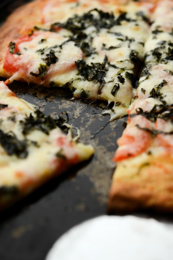 Caprese Fat Head Pizza made with Mozzarella, cream cheese and almond flour is a low carb way to make one of your favorite recipes.