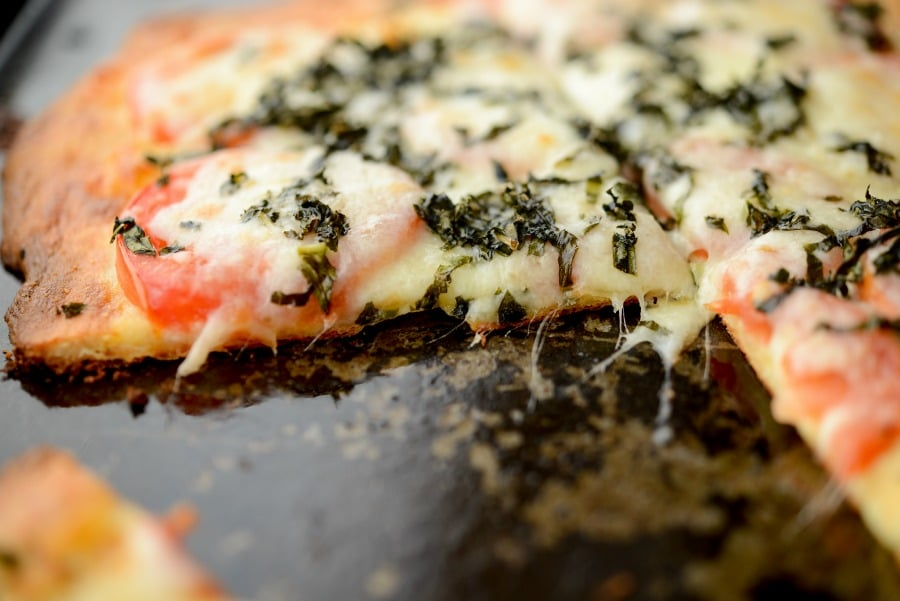 Caprese Fat Head Pizza