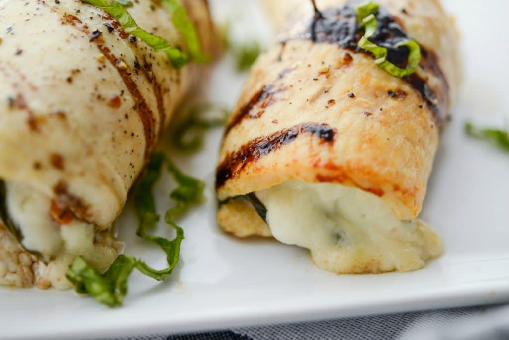 Caprese Stuffed Chicken Roll Ups