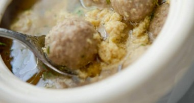 Sciusceddu (Italian Meatball and Egg Soup)