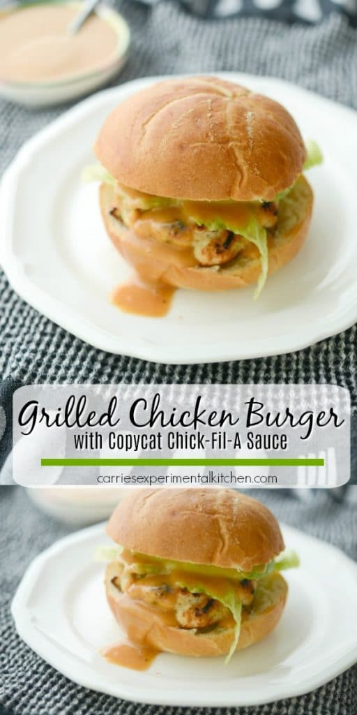 Grilling season is coming and these Grilled Chicken Burgers topped with avocado and copycat Chick-Fil-A Sauce are sure to please everyone. .