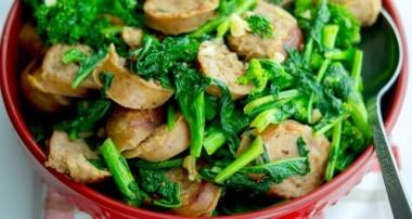 Sweet Italian Sausage with Broccoli Rabe