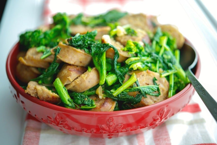 Italian Sausage with Broccoli Rabe