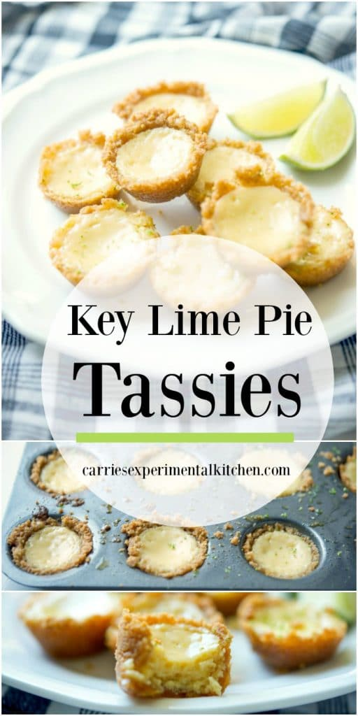 Enjoy one of your favorite desserts in individual portion sizes with these Key Lime Pie Tassies made with fresh key limes in a graham cracker crust.