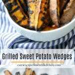 These Grilled Sweet Potato Wedges made with three ingredients are quick and easy to make, they will be your new favorite Summer side dish.