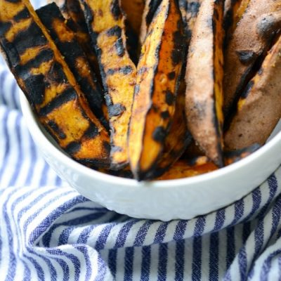 Healthy Grilled Sweet Potato Wedges