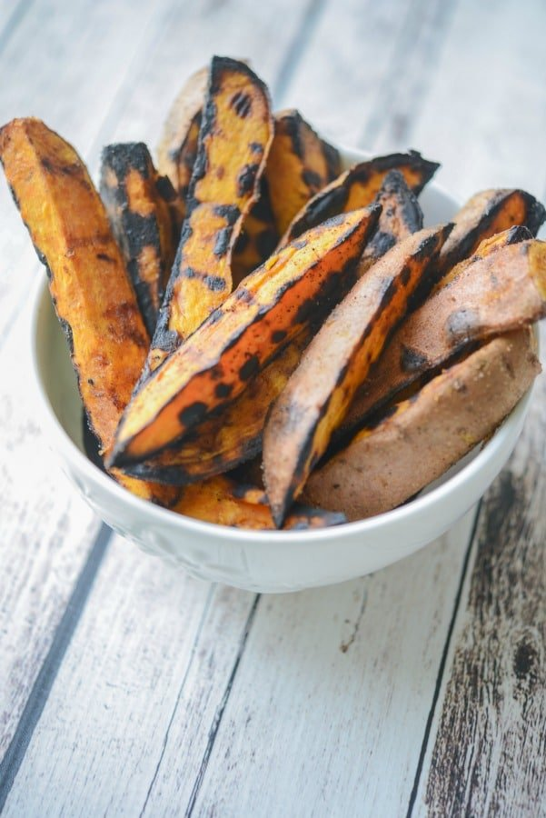 Grilled Sweet Potato Wedges made with three ingredients are quick and easy to make, they'll be your new favorite side dish.