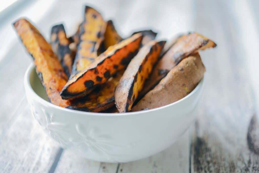 Grilled Sweet Potato Wedges Horizontal