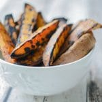 Grilled Sweet Potato Wedges Horizontal