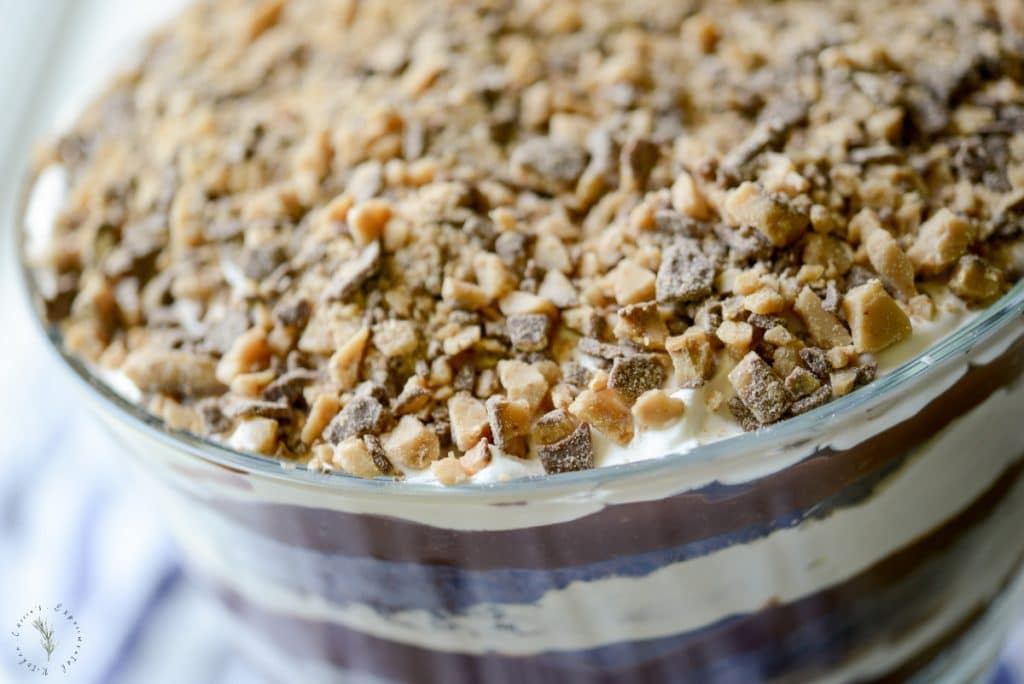 Dark Chocolate Heath Bar Trifle Horizontal