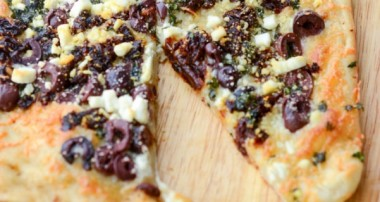 Sun Dried Tomato, Olive and Goat Cheese Flatbread