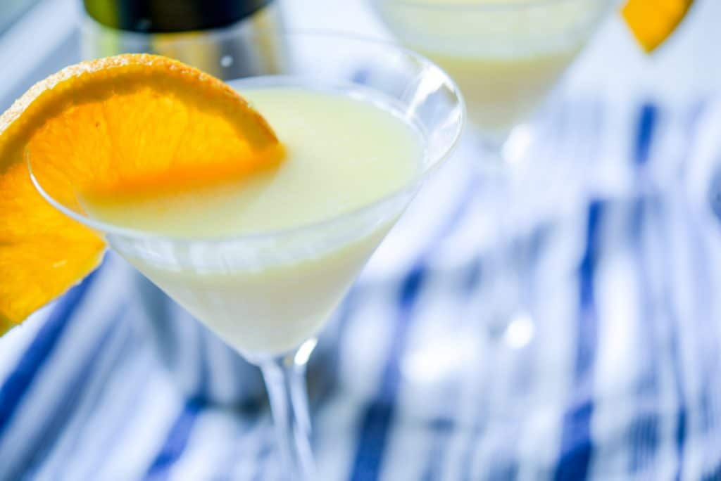 Creamsicle Martini Cocktail