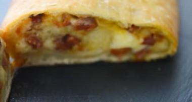 Portuguese Chorizo Stuffed Bread