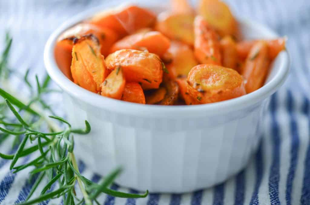 Rosemary Roasted Carrots in a bowl
