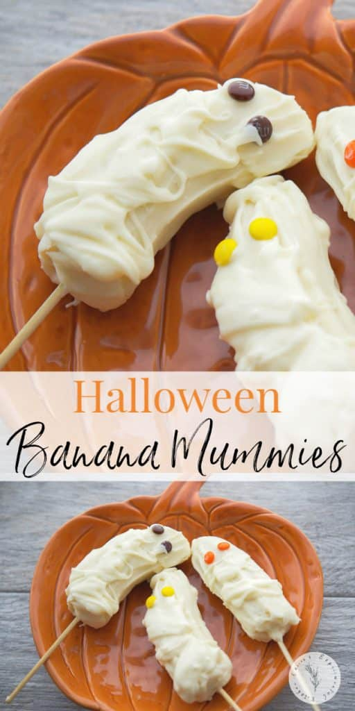 These frozen Halloween Banana Mummies made with fresh bananas, white chocolate and candy eyes are a fun treat to celebrate the ghoulish holiday.