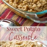 This classic Sweet Potato Casserole with a buttery brown sugar pecan crust is a one of my family's favorite Thanksgiving side dishes.
