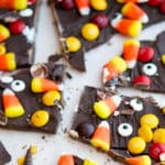 If you're not much of a baker, yet want to make something fun and festive; then this recipe for Halloween Candy Bark is perfect for you!