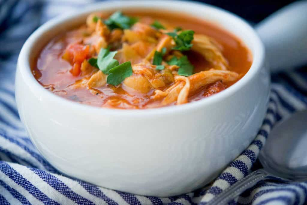 Roasted Chicken and Chick Pea Soup