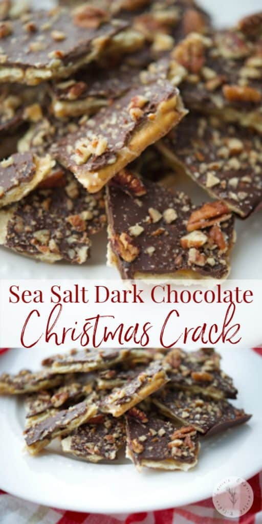 Looking for a sweet treat to round out your holiday baking platters? Then this Sea Salt Dark Chocolate Christmas Crack is sure to please everyone!
