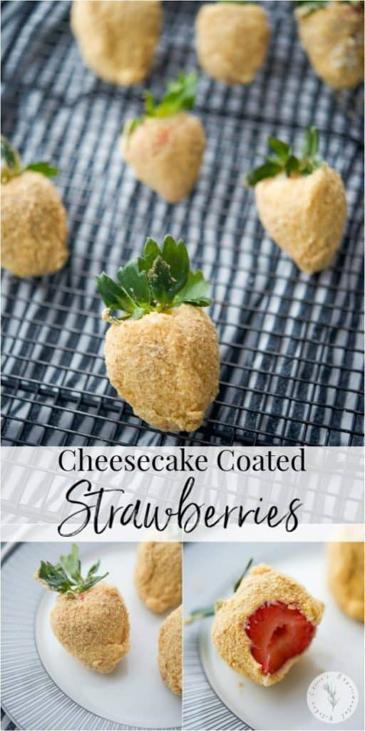 Fresh strawberries coated with sweet cream cheese icing; then dipped in graham cracker crumbs make a tasty after school snack or holiday treat.