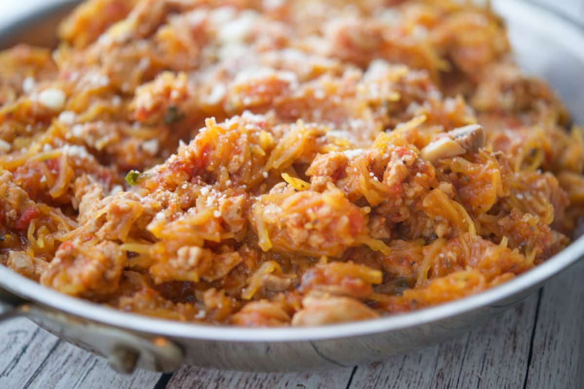 Turkey Bolognese Spaghetti Squash