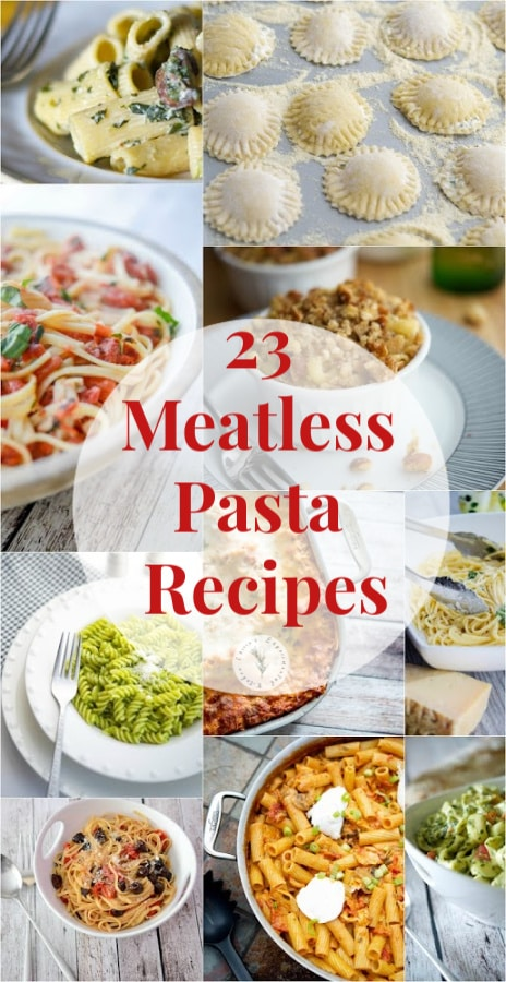 If you're looking for quick and easy, meatless pasta recipes, Carrie's Experimental Kitchen has got you covered with 23 of their most popular pasta recipes!