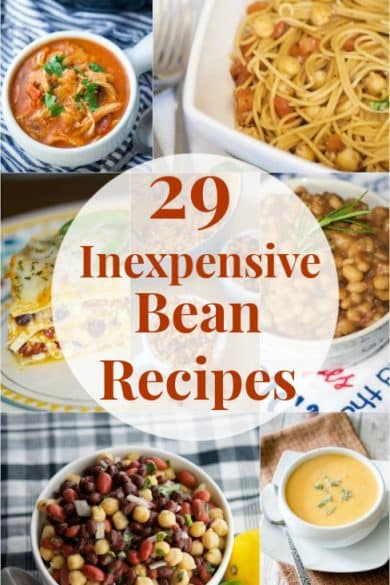 Here are 29 of my favorite bean inexpensive bean recipes using common pantry items to help get you through these tough times.