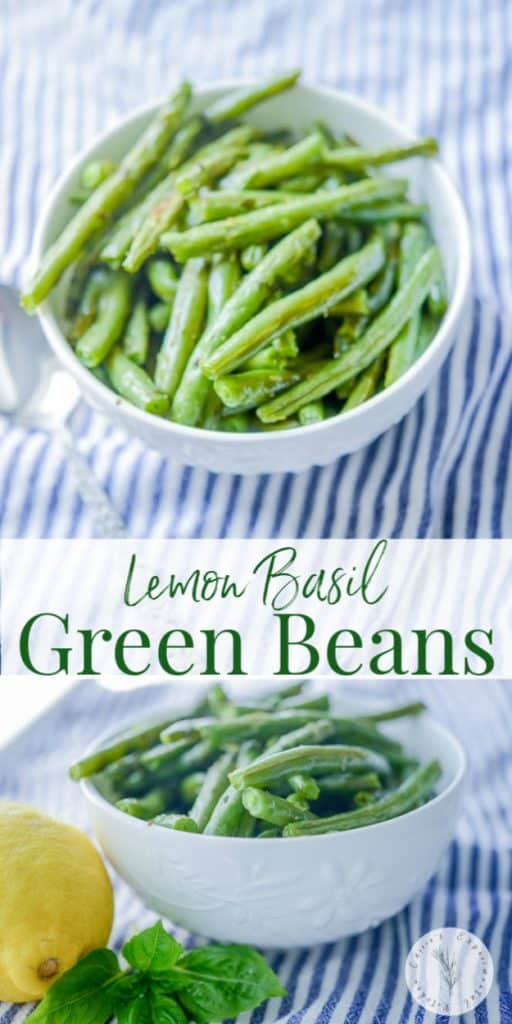 The light and flavorful combination of lemon and basil tossed with fresh green beans; then roasted make a tasty vegetable side dish with any meal.