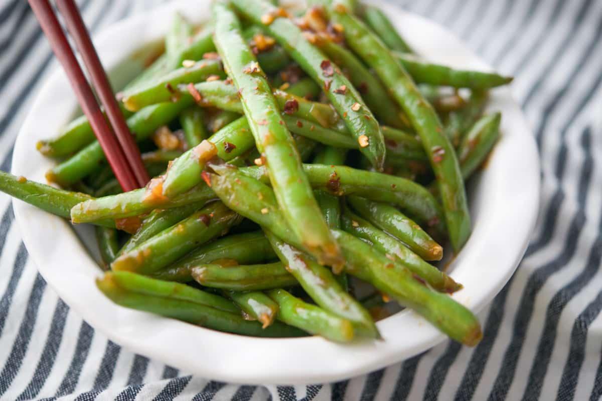 Chili Garlic Green Beans