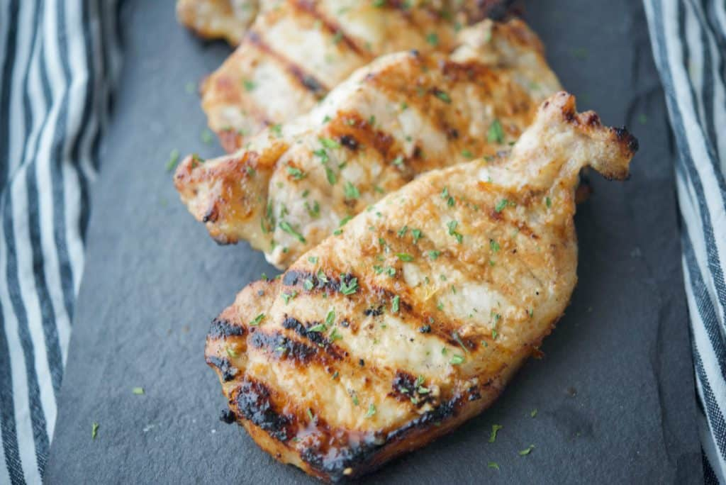 Honey Roasted Garlic Grilled Pork Chops